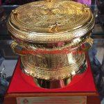 Ý nghĩa quà tặng trống đồng 20cm mạ vàng 24k - sản phẩm trống đồng mạ vàng 24k làm quà tặng