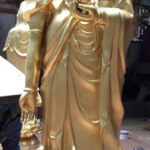 Đúc tượng phật tam thánh tây phương đúc công nghệ thủ công đường nét hoa văn tinh xảo đường nét đẹp thờ cung trong  đền chùa mang lại tâm linh cao . nhận đúc tượng phật