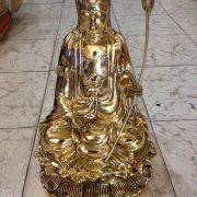 Đúc tượng phật bằng đồng cao 68cm đúc công nghệ thủ công đường nét hoa văn đẹp thờ cúng trong đền chùa là vật gia bảo để đời cho con cháu về sau .tượng bồ tát đại thế chí bằng đồng