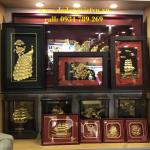 tranh đồng quà tặng dát vàng 24k