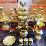 Đồ thờ cúng bằng đồng dapha đầy đủ