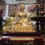 Đức phật hoàng trần nhân tông 23cm - tượng đồng đức phật hoàng trần nhân tông bằng đồng nguyên khối