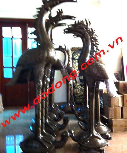 Hạc đồng dùng thờ cúng trên bàn thờ