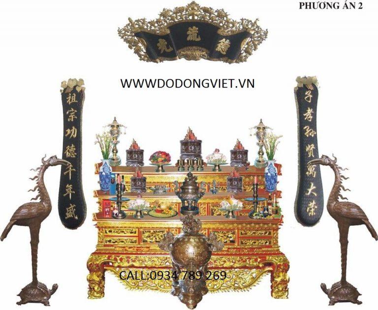 Hạc đồng trong các đền tưởng niệm hay nhà thờ