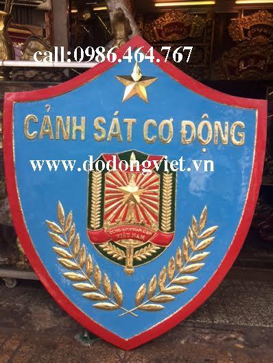 Logo huy hiệu cảnh sát cơ động bằng đồng