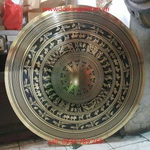 Mặt trống đồng quà tặng mang ý nghĩa độc đáo trang trí phòng khách phòng họp mang vẻ đẹp lịch sử văn hóa của người việt đồ đồng quà tặng độc đáo nhất mặt trống đồng