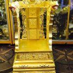 Ngai thờ bằng đồng .ngai thờ chất liệu đồng vàng đường nét hoa văn tinh xảo