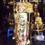 Tượng địa tạng đồng vàng