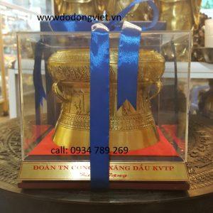 trống đồng quà tặng mạ vàng 24k.trống đồng quà tặng đối tác nước ngoài .ý nghĩa và sang trọng.