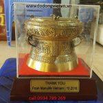 Qùa tặng trống đồng là văn hóa lịch sử việt nam làm quà tặng đối tác nước ngoài làm quà tặng lưu niệm