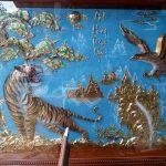 Tranh đồng phong thủy anh hùng tượng ngộ được trang trí phòng khách mang phong thủy ý nghĩa tranh đồng mỹ nghệ đẹp sang trọng quý phái