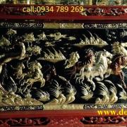 """Bức tranh đồng Bát Mã hay còn gọi là tranh đồng Mã Đáo Thành Công """"Ngựa mang đến sự thành công"""""""