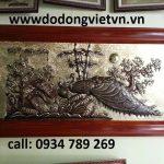 Bức tranh đồng phong thủy mai công được chạm đồng dày 1 ly đường nét hoa văn đẹp làm quà tặng hoặc trang trí phòng khách sang trọng .bức tranh mai công