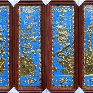 tranh đồng tùng trúc cúc mai làm quà mừng tân gia ý nghĩa mang lại bốn mà xuân hạ thu đông.