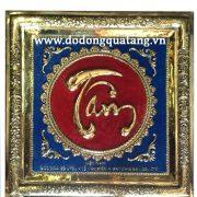 chữ đồng làm quà buớư đối tác sang trọng .