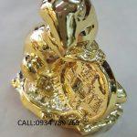tượng chuột bằng đồng mạ vàng