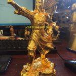 Tượng đồng trần hưng đạo .tượng đồng trần hưng đạo đúc đồng vàng nguyên khối.đường nét hoa văn tinh xảo làm quà tặng ý nghĩa và sang trọng