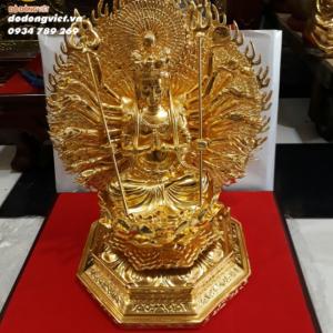 tuong phat thiên thủ dat vàng42cm